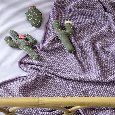 Κουβέρτα Κούνιας Wool Πλεχτή Twine Lilac - Nima Home