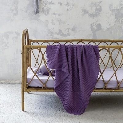 Κουβέρτα Λίκνου Wool Πλεχτή Ribbon Lilac - Nima Home