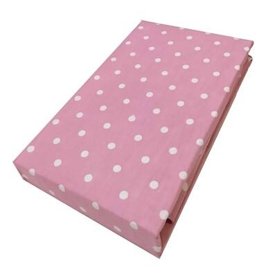 Σεντόνι Λάστιχο Μονό Dots Light Pink - Komvos