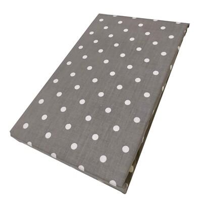 Σεντόνι Λάστιχο Διπλό Dots Gray - Komvos