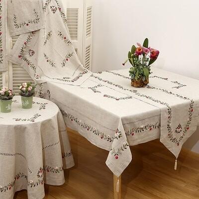 Τραπεζοκαρέ Κέντημα 17705 Fuchsia - Ilis Home
