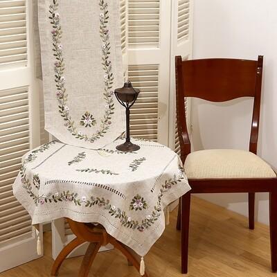 Τραπεζοκαρέ Κέντημα 17705 Lilac - Ilis Home
