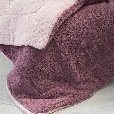 Κουβερτο-Πάπλωμα Μονό Melt Powder Pink-Cassis - Nima Home