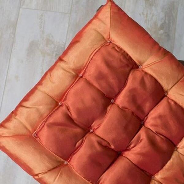 Μαξιλάρι Καρέκλας Satin Orange - Sunshine