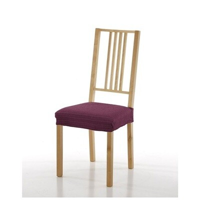 Σετ 2 τεμ. Κάλυμμα Κάθισμα Καρέκλας Ελαστικό Akari Μωβ - Mc Decor