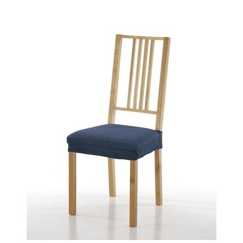 Σετ 2 τεμ. Κάλυμμα Κάθισμα Καρέκλας Ελαστικό Akari Μπλε - Mc Decor