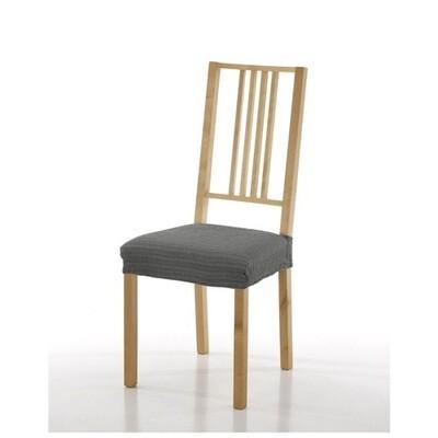 Σετ 2 τεμ. Κάλυμμα Κάθισμα Καρέκλας Ελαστικό Akari Γκρι - Mc Decor