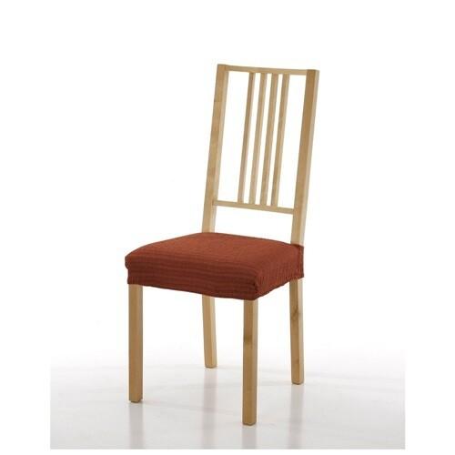 Σετ 2 τεμ. Κάλυμμα Κάθισμα Καρέκλας Ελαστικό Akari Κεραμιδί - Mc Decor