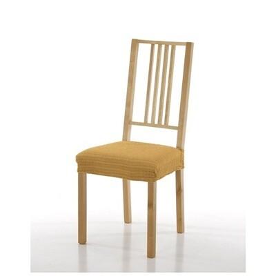 Σετ 2 τεμ. Κάλυμμα Κάθισμα Καρέκλας Ελαστικό Akari Χρυσό - Mc Decor