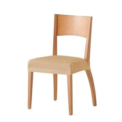 Σετ 2 τεμ. Κάλυμμα Κάθισμα Καρέκλας Ελαστικό Tunez Μπεζ - Mc Decor