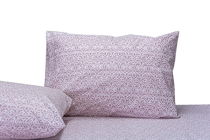 Μαξιλαροθήκες Ζευγάρι Damask Pink Βαμβάκι 100% - Cotton Senses