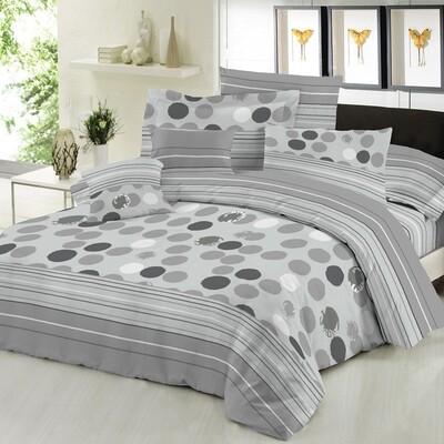 Πάπλωμα Μονό Cotton Line Bubbles Gray - Komvos