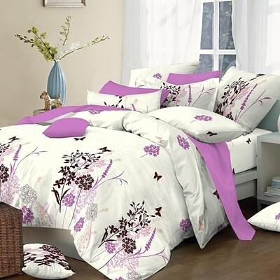 Πάπλωμα Διπλό Cotton Line Primavera Lilac - Komvos