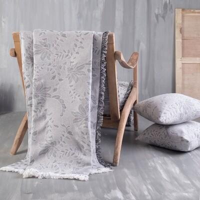Ριχτάρι Μονοθέσιο Fiona Light Gray - Cotton