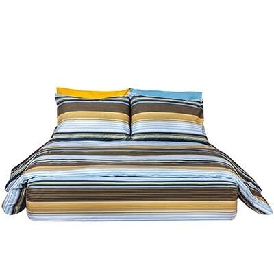Μαξιλαροθήκες Ζευγάρι Stripes Blue Βαμβάκι 100% - Cotton Senses