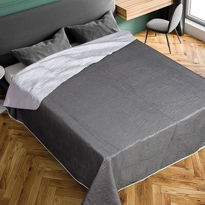 Κουβερλί Μονό Elegance K4 Gray - Adam Home