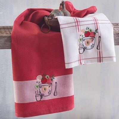 Σετ Πετσέτες Κουζίνας Πικέ 2 τεμ. Tomato - Rythmos