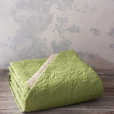 Κουβερλί Μονό Foglie Olive/Beige - Nima Home