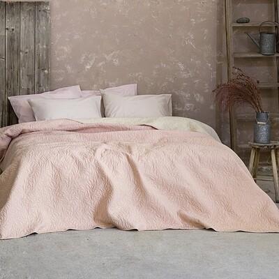 Κουβερλί Μονό Foglie Pink/Ivory - Nima Home