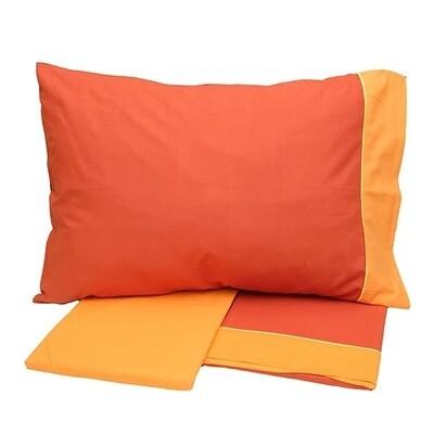 Σετ Σεντόνια Μονά Cotton Feelings 2219 Orange - Sunshine
