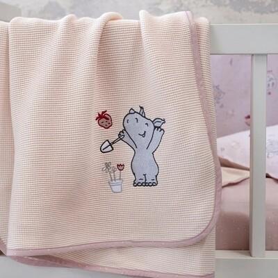 Κουβέρτα Πικέ Λίκνου Little Rhino - Nima Home