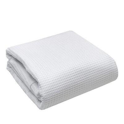 Κουβέρτα Πικέ Υπέρδιπλη Cotton White - Sunshine