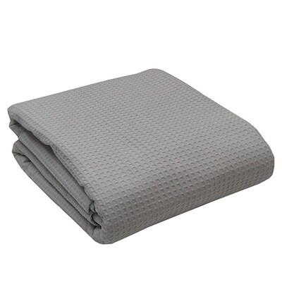Κουβέρτα Πικέ Μονή Cotton Dark Gray - Sunshine