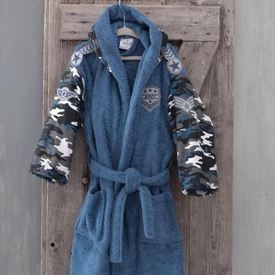 Μπουρνούζι Παιδικό Army Blue - Rythmos