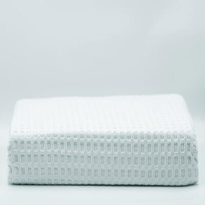 Κουβέρτα Πικέ Μονή Βαμβακερή White - Adam Home