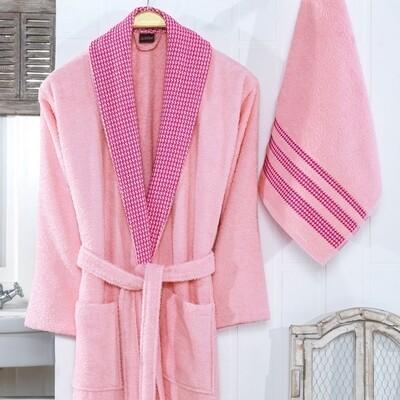 Σετ Μπουρνούζι & Πετσέτα Aria Pink - Ilis Home