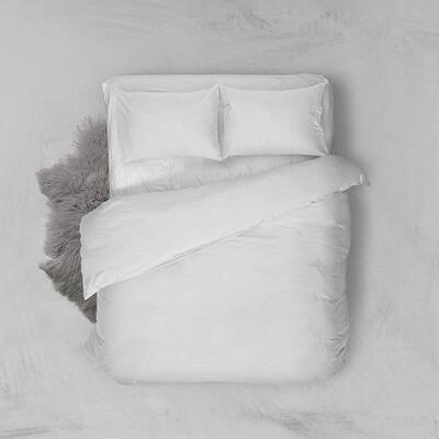 Παπλωματοθήκη Μονή Menta 209 Λευκό - Sunshine