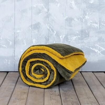 Κουβερτο-Πάπλωμα Μονό Nuan Brown-Mustard Beige - Nima Home