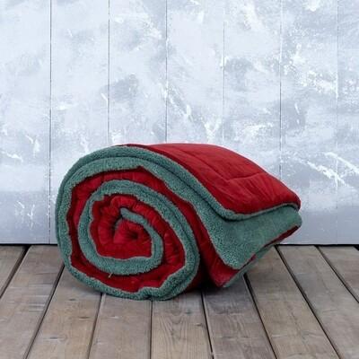 Κουβερτο-Πάπλωμα Μονό Nuan Red-Green - Nima Home