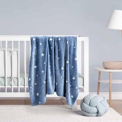 Κουβέρτα Φωσφοριζέ Λίκνου Fleece Glow Star Blue - Kocoon