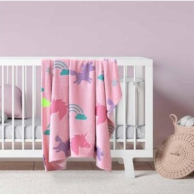 Κουβέρτα Φωσφοριζέ Κούνιας Fleece Shiny Unicorn - Kocoon