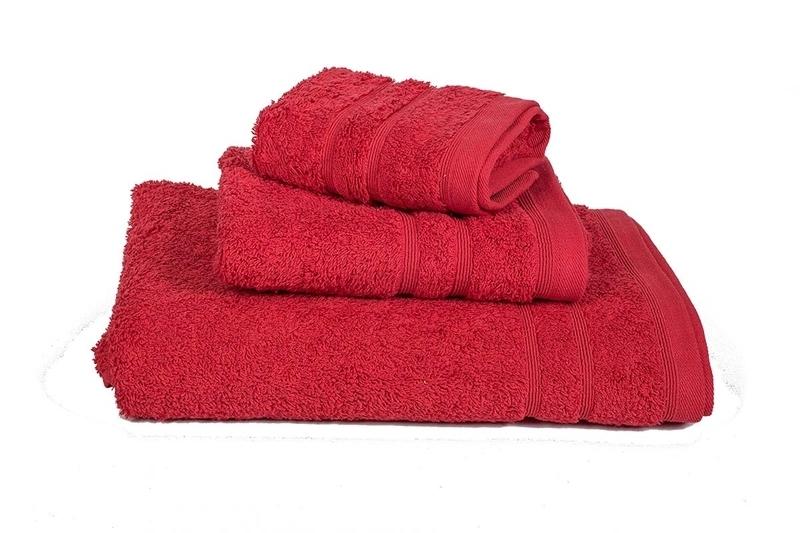 Πετσέτα Χειρός Μονόχρωμη Πενιέ 500 gr/τμ Κόκκινο - Komvos