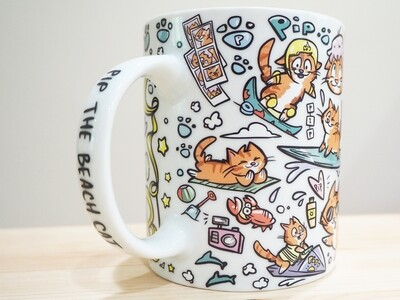 Pip the Beach Cat Mug!