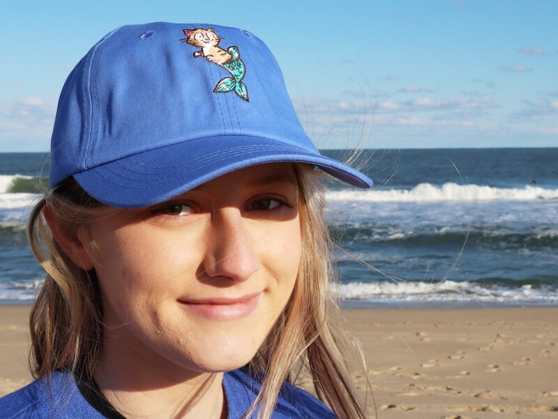 Blue Pip the Purrmaid Baseball Hat