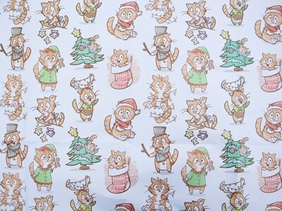 Holiday Custom Wrapping Paper Packs