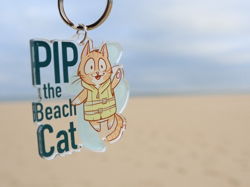 Pip the Beach Cat Keychains