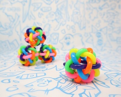 Rainbow Rubber Ball with Bell