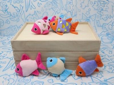 Catnip Crinkle Fish Toys