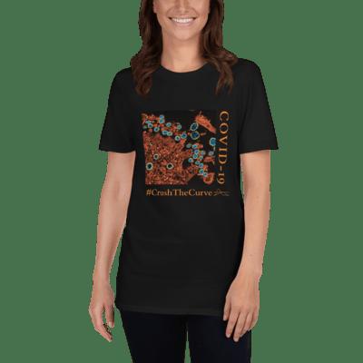 COVID-19 #CrushTheCurve Short-Sleeve Unisex T-Shirt