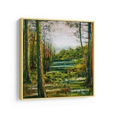 A Forest Pond | Print on Canvas