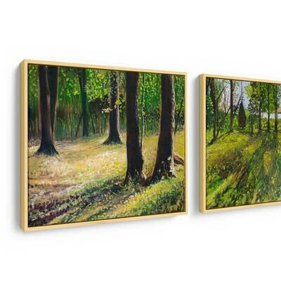 Tod's Point Diptych | Original Oil Painting
