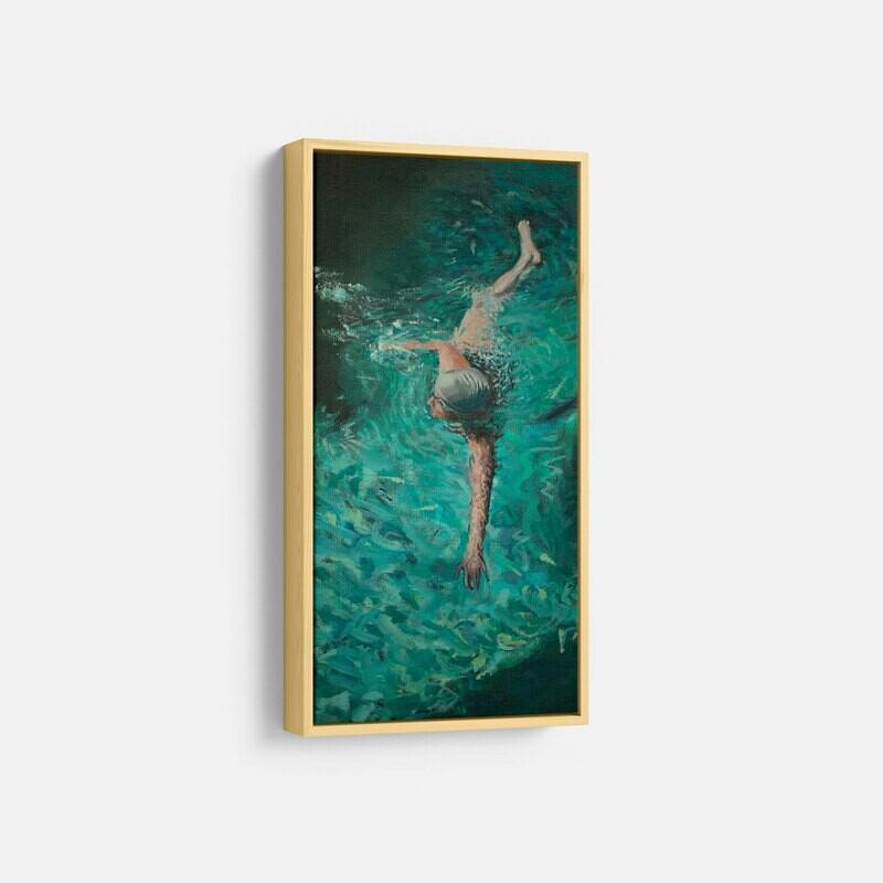 Pool Swimmer | Original Oil Painting