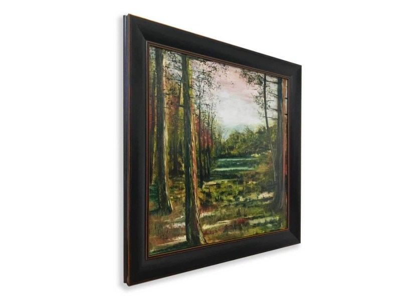 A Forest Pond   Original Oil Painting