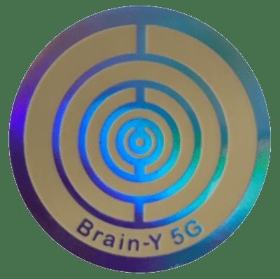 5G Brain-Y das Original (Handy Chip) Folienaufkleber