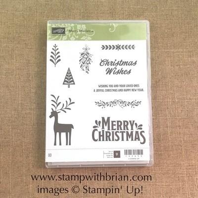Merry Mistletoe Clear-Mount Stamp Set - NEW