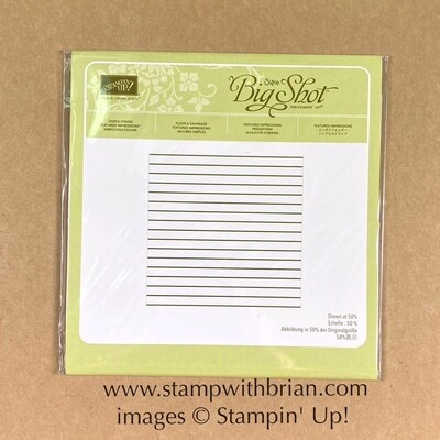 Simple Stripes Embossing Folder NEW